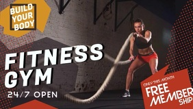 Gym Advert Membership Facebook Cover Video
