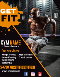 Gym and bodybuilding flyer advertisement