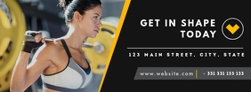 gym and facebook cover design template