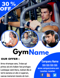 Gym and Fitness center 30% off event