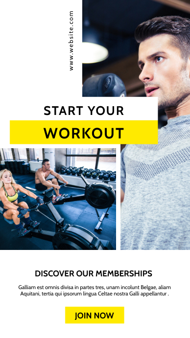 gym and fitness center advertisement instagra Instagram Story template