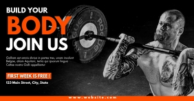 gym and fitness center facebook advertisement template