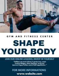 gym and fitness center flyer template