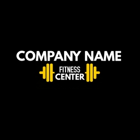 Gym and fitness center logo dumbbell icon