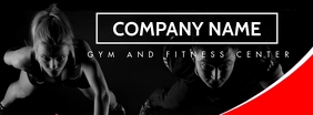 gym and fitness facebook cover template desig