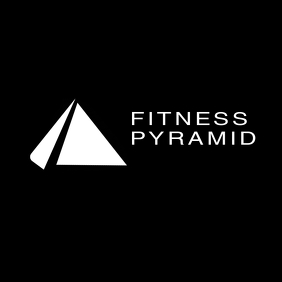 Gym and fitness geometric white and black log