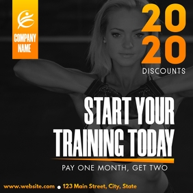 gym and fitness instagram post advertisement template