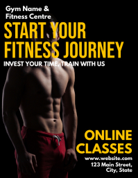 Gym and Fitness online classes advertisement