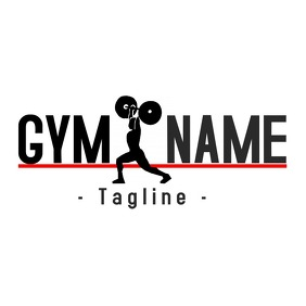 Gym Bodybuilding logo Logotyp template