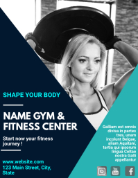 Gym business flyer design template
