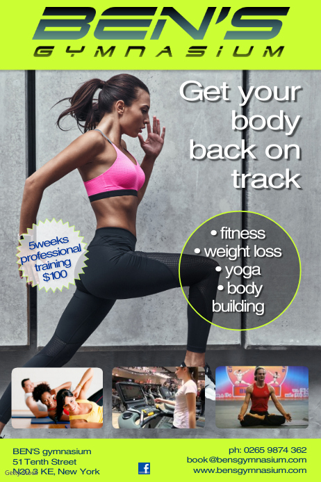 Gym Business Flyer Poster template