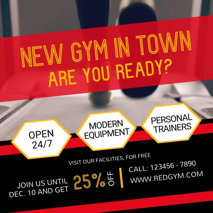 Gym Center Ad Square Video