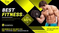gym center flyer template Digital Display (16:9)