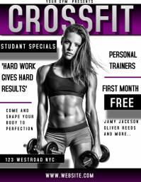 GYM CROSSFIT AD TEMPLATE FLYER