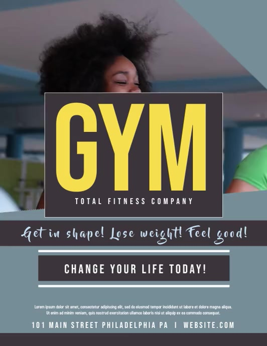 GYM Flyer (US Letter) template