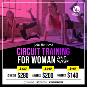 Gym discount Deal Offer Instagram Post Template