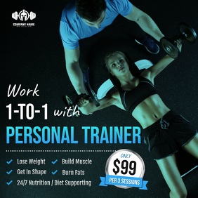 Gym discount Deals Instagram Post Template