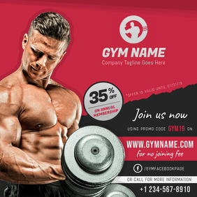 Gym discount Offer Instagram Post Template