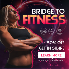 Gym Discount Promotion Instagram Template