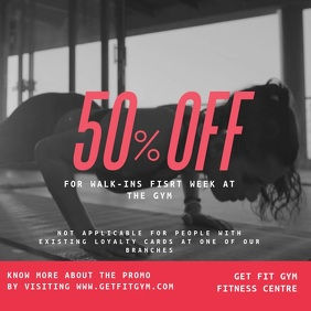 Gym Discount Video Template Instagram Post
