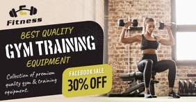 Gym Equipment Facebook Shop Cover template