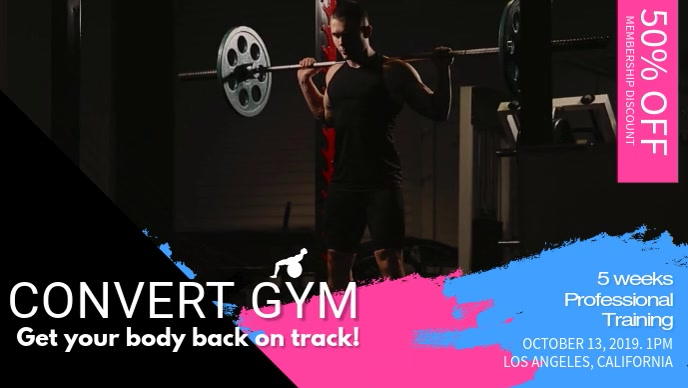 Gym Facebook Cover Video Template