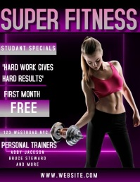 GYM FITNESS AD DIGITAL VIDEO FLYER TEMPLATE