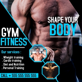 gym fitness and bodybuilding Instagram post