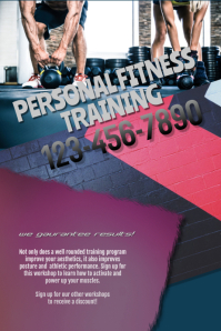 Gym Fitness Class Workshop Flyer Poster Template