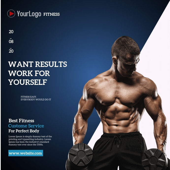 gym fitness Square (1:1) template