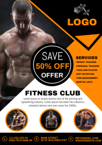 GYM FITNESS A4 template