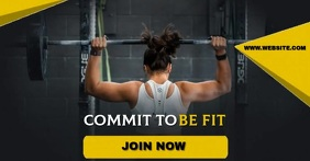 gym fitness facebook share TEMPLATE
