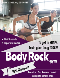 gym/fitness flyer