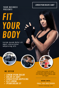 Gym Fitness Flyer Template Affiche