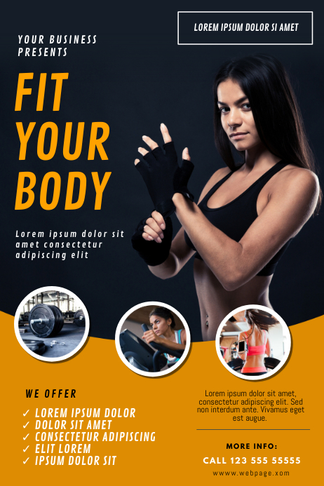 Gym Fitness Flyer Template PosterMyWall