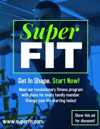 Gym fitness video flyer