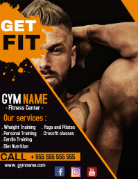 Gym flyer advertisement template