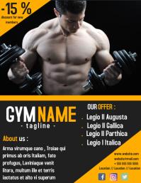 Gym flyer depliant advertisement