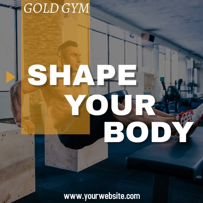 Gym flyer Instagram Post template