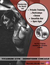Gym flyer/Fitness Poster/Personal Trainer