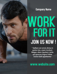 gym flyer template advertisement