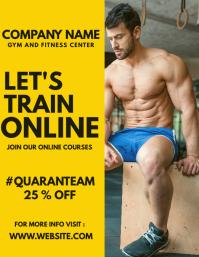 Gym flyer template advertisement online