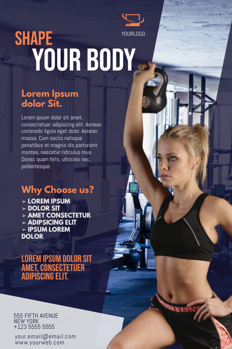 gym flyer template postermywall