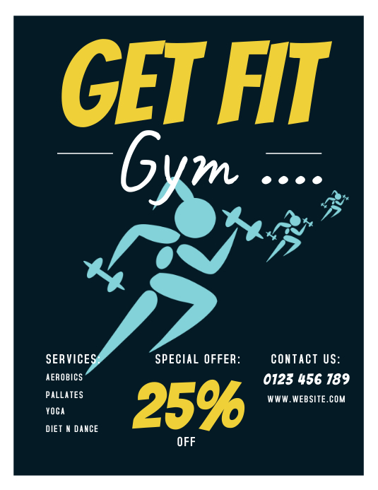 GYM FLYERS Template | PosterMyWall