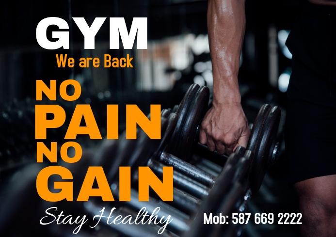 Gym Health 2 A2 template