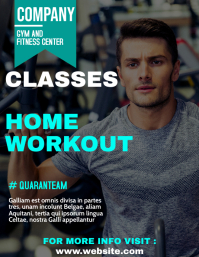 gym home workout classes advertisement flyer