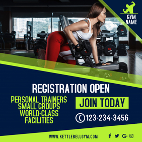 Gym Instagram Ad Promo Template