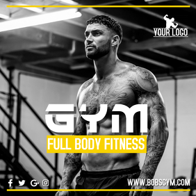 Gym Instagram Promo Template