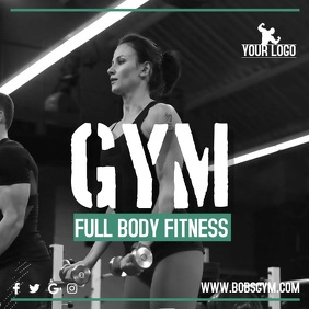 Gym Instagram Promo Video Template