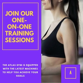 Gym Instagram Video Template Square (1:1)